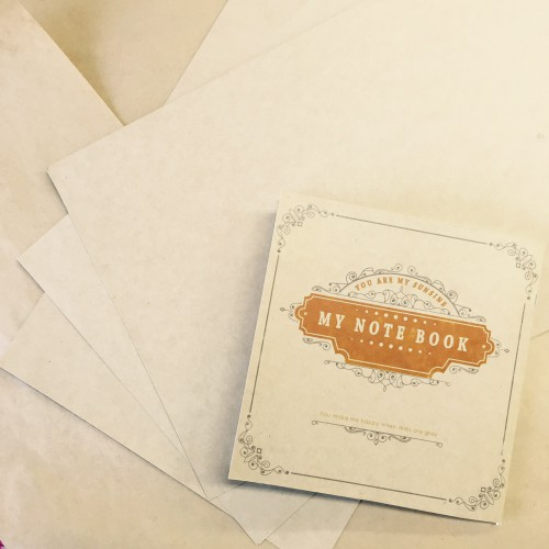 クラフト表紙で簡単におしゃれノート♥