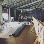 二階工事始まりました!わくわく!#増築 #製本工場 #事務所