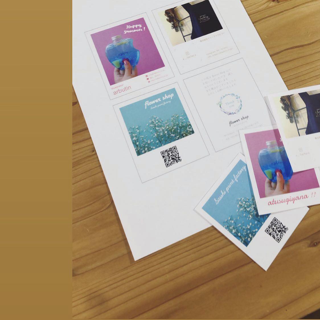 オリジナルチェキ風カード、販売中です3種類のテンプレートよりお選びいただけます。詳細はプロフィールページURL先にて♡ @e__factory #名刺 #オリジナルカード #ショップカード #thankyouカード #働く名刺 #SNSカード #bussinesscard #おくりもの #okurimono