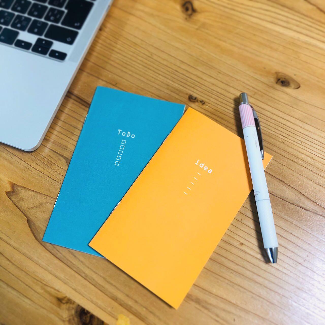 【制作事例】スマホサイズtodoノート、ideaノート2冊セットにしてもgood!オリジナルノートの作成はイー・ファトクトリーまでお見積もりのご依頼お待ちしております🥰#冊子印刷ふぁくとりー #オリジナルグッズ #オリジナルノート #オーダーメイド #中綴ノート
